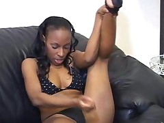 Ebony Jerky Teacher In Bikini Shows Off Curves For Teasing