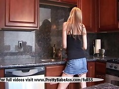 Beautiful Teen Show That Has It In Her Kitchen