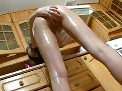 Insanely Shaved Julia In The Kitchen