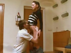 Teen Lovers Fucking In The Kitchen