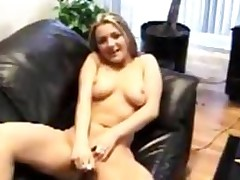 Kylie, Toying Myself On Leather Couch