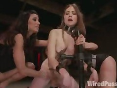 Lesbian Bdsm Electro Torments And Corporal Punishments Of..