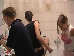 Bathroom Lesbian Sex