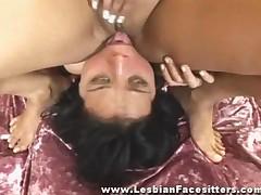 Nude Lesbian Dominatrix Facesitting