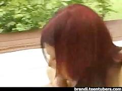 Nudist Teen Blowjob On Back Patio