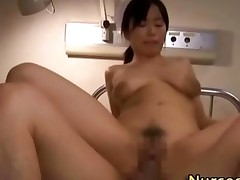 Asian Nurse Gets Facial After Being Fucked