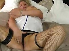 Huge Boob Blonde Nurse Teases