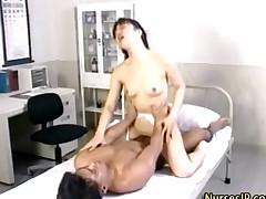 Dirty Asian Nurse Gets Fingered