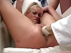 Nurse Fisting Blonde Patient