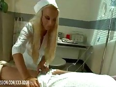 Busty Nurse Enjoys Sucking Horny Huge Dick