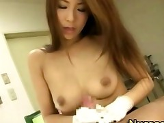 Horny Nurse Bitch Gets A Cumshot
