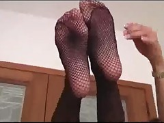 Stroking Simone In Pantyhose