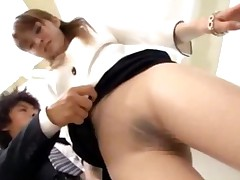 Office Lady In Pantyhose Getting Her Pussy Rubbed Nipples..