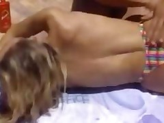 Blonde Chick Fucked By The Pool