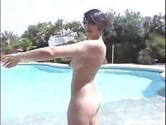 Cute Latin Girl Gets Fucked After Teasing At The Pool
