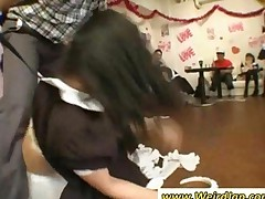 Tight Bodied Asian Maids Gets Punished