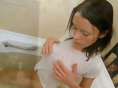 Hot Teen Having Shower