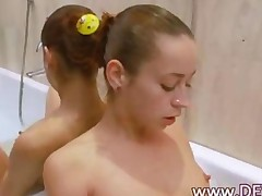 Russian Masturbating In The Hot Shower