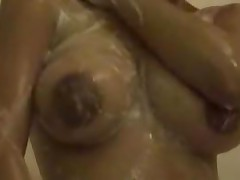 Hot Gia Taking A Shower