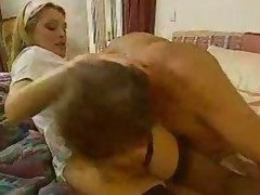 Fucking The Maid While His Wife Takes Shower