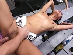 Bamboo In Her Famous Gym Orgy Sucks And Fucks Tyce Bune..