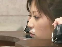 Schoolgirl Tied To Stocks Sucking Schoolguys Getting Her..