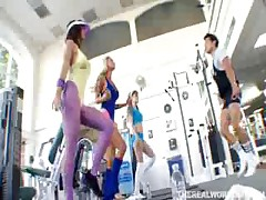 Gym Exercise Turns Into Hot Fucking Session