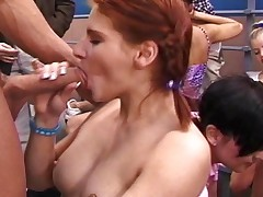 Bamboo In Her Famous Gym Orgy With Many Porn Stars