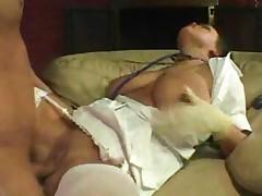Sexy Nurse In White Stockings
