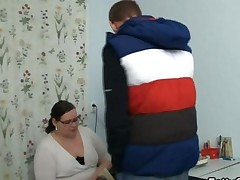 Student Bangs His Plump Teacher