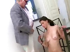 Student Blowing Her Teacher And Doing It On Table