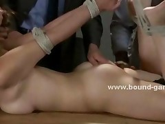 College Student Buying Her Exam With A Group Sex Spanking..