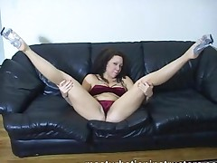 Masturbation Teacher In Bikini Spreads Her Legs On The Couch