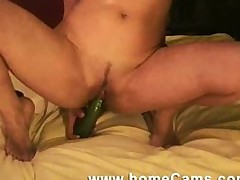 Amateur Webcam Girl Savannah May Fucks Huge Cucumber