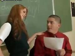 Slutty Redhead Teen Schoolgirl Fucked By Teacher