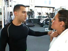 Brunette Big Tit Fucked At The Gym
