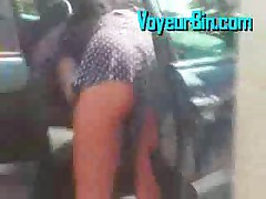 Hot Upskirt At The Gas Station