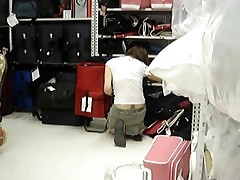 Upskirt Teen In Luggage Department