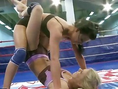 Hot Teen Girls In Lesbian Wrestling