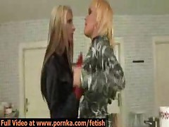Two Sexy Eurobabes Get Into Catfight Then Kiss And Make..