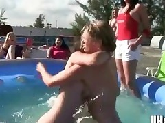 Sorority Hazing Game Of Pool Wrestling And Pussy Munching