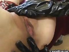 Lesbo Slut In Fishnets Get Fucked