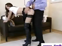 Older Guy Fucks Younger Fishnet Babe