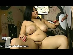 Exotic BBW Slut Sucks Dick Through A Glory Hole