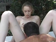 Small Tits Babysitter Anal Fucked Hard Outside