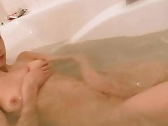 Naked Busty Brunett In The Bathroom