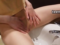 Solo Masturbation In The Bathroom
