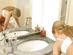 Blonde Jessica (18) , Bathroom Orgasm