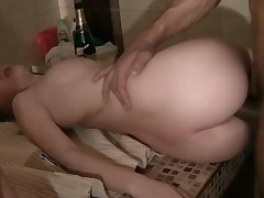 Cute Teen Got Fucked In The Ass In Bathroom