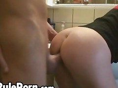 Blonde Girl Take Anal In The Bathroom